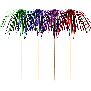 "Partypicker 15,5 cm farbig sortiert ""Feuerwerk"" - Bild 1"