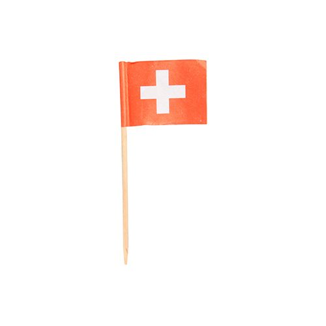"Partypicker, Flaggen 8 cm ""Schweiz"" - Bild 1"