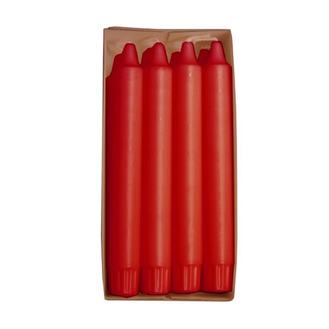 Kronkerzen Ø 2,4 cm · 20 cm rot aus 100 % Stearin - Bild 1