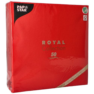 "Servietten, rot ""ROYAL Collection"" 1/4-Falz 48 x 48 cm - Bild 3"