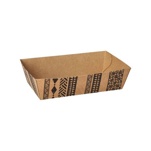 """Snacktrays, Pappe 3,5 cm x 10,5 cm x 14 cm braun """"Maori"""" mittel - Bild 1"""