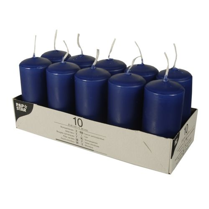 Stumpenkerzen dunkelblau Ø 40 mm · 90 mm - Bild 1