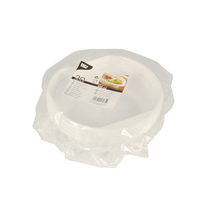 Suppenbecher To Go, PS rund 500 ml Ø 15,8 cm · 5,3 cm weiss mit Anfasser - Bild 2